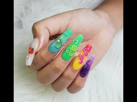 Cute Fimo Fruit Nail tutorial thumbnail