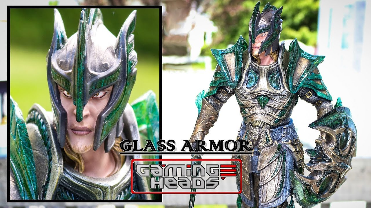 Skyrim Glass armor statue by Gaming Heads - Unboxing & review
