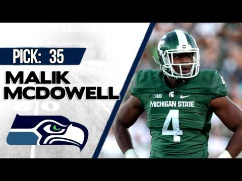 SEATTLE SEAHAWKS SELECTS MALIK MCDOWELL 35TH OVERALL | 2017 NFL DRAFT