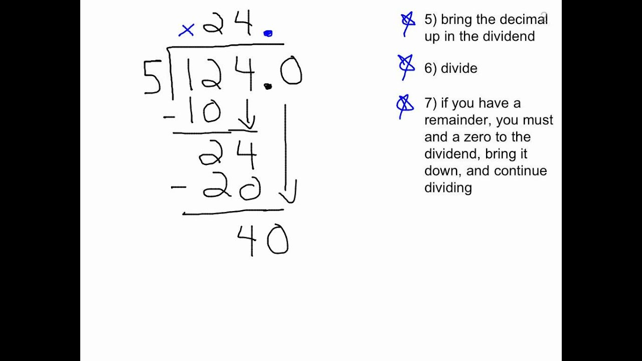 Worksheet How To Do Long Division With Decimals dividing decimals decimal in both dividend divisor youtube divisor