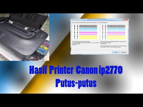 Membersihkan printer Canon IP2770 yang banjir tinta.