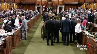 House of Commons scuffle between PM Justin Trudeau and NDP MP thumbnail