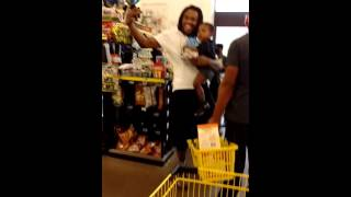 Ladies caught stealing in dollar general and gets slammed too quick for some shampoo and soap..Must.