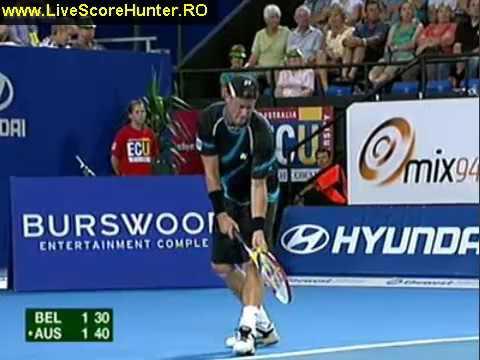 Hopman Cup 2011 BEL vs AUS Ruben Vs Hewitt
