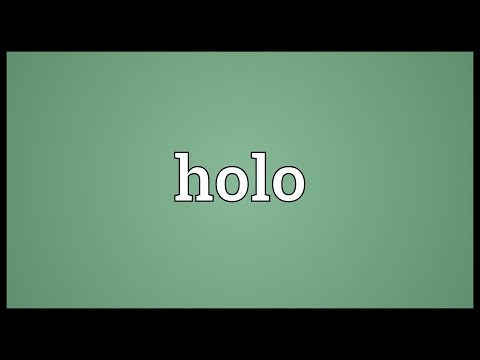 what does the prefix holo mean