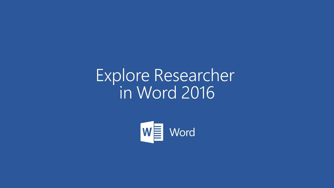 Explore Researcher in Microsoft Word