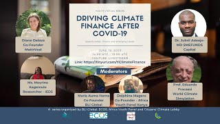 Driving Climate Finance after COVID-19