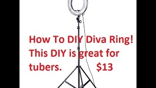How To DIY Diva Light Ring cheap $13