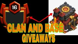 clash of clans level 9 clan giveaway and base giveaway for 1k subscribe special