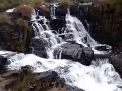 The Nyangombe river's falls at the Nyanga National Park