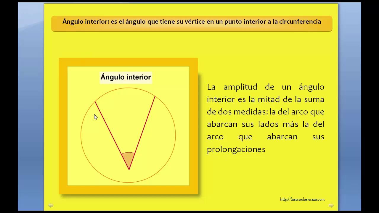 4. Ángulos en una circunferencia: Interior, central, inscrito, semi inscrito, interior y circunscrit