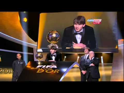Messi wins the FIFA BALLON D'OR 2010