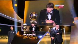 Messi wins the FIFA BALLON D'OR 2010