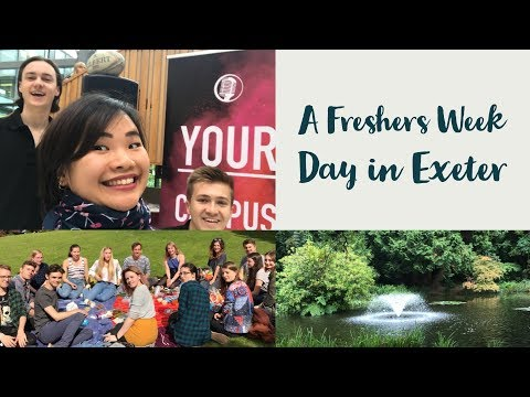 A Day In The Life In Exeter - Freshers week (ExeVlog 1)