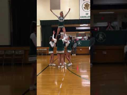 Gianna Mead cheerleading half time 2017