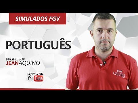 Português: Simulados Banca FGV - Professor Jean Aquino