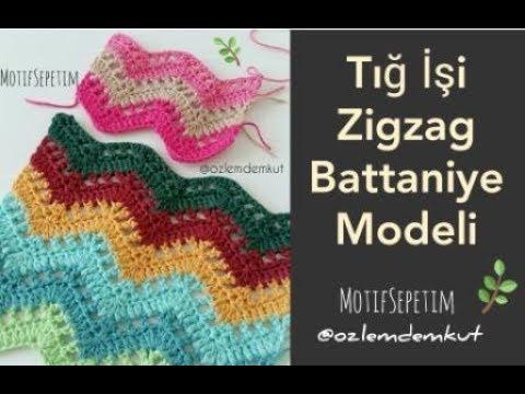 Tığ İşi Zigzag Battaniye Modeli - @ozlemdemkut - Crochet Ripple Blanket
