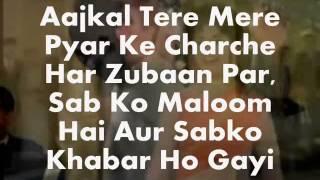 Aajkal Tere Mere Pyar Ke-Karaoke & Lyrics-Brahmachari