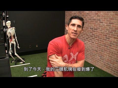徒手三頭肌訓練 | 6分鐘肌肉痠痛 (中文字幕)