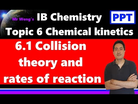 IB Chemistry Kinetics Topic 6.1 Collision theory and rates of reaction