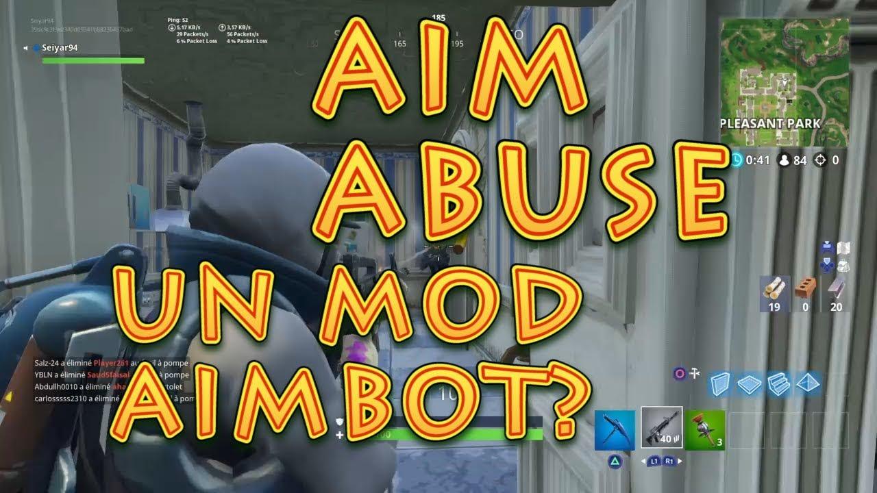 Un mod AIMBOT ?!! Test AIM ABUSE Strike Pack | FORTNITE PS4 FR