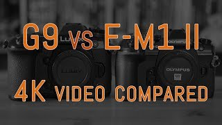 Panasonic G9 vs Olympus OM-D E-M1 II - 4K Video Comparison