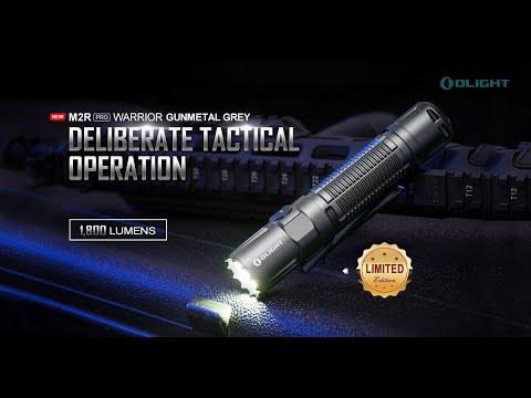 Senter Olight M2R PRO GMG Flashlight LED Rechargeable 1800 Lumens