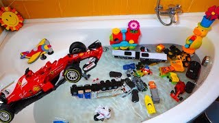 Car Toys Playing For Children Learn Street Vehicles Fire Truck,Police Car,Ambulance,Bus,Helicopter
