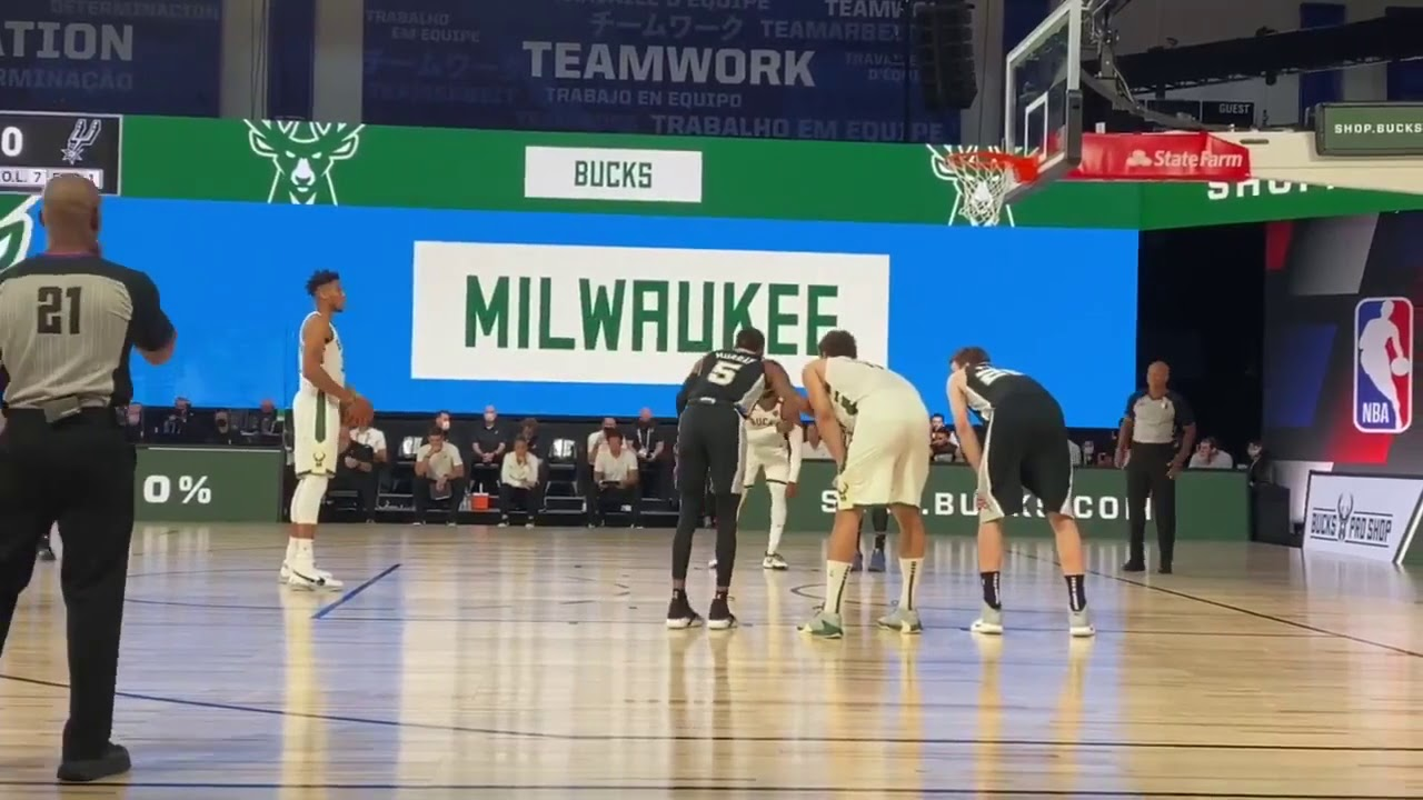 Giannis Antetokounmpo with the QUIETEST FREE THROW EVER | July 23, 2020