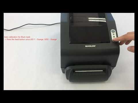 Printer Setup And Installation_Auto Calibration For Black Mark (TX, DX, DL Series Model)