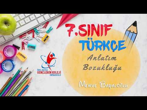 7.Sınıf- Türkçe- Anlatım Bozukluğu- Merve BAŞALOĞLU