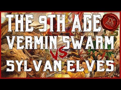 Vermin Swarm vs Sylvan Elves The 9th Age 2.0.2 BETA Battle Report ep. 014