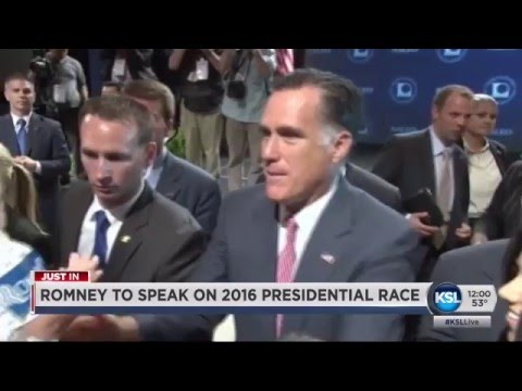 Mitt Romney to speak about 2016 presidential race at U