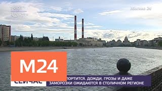 Смотреть видео Москвичей предупредили о грозе и сильном ветре 3 июня - Москва 24 онлайн