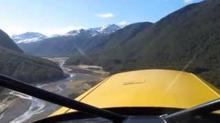 Bearhawk STOL landing in Southern Alps, New Zealand