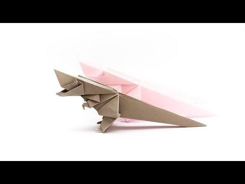 การพับกระดาษเป็นไดโนเสาร์ทีเร็กซ์ Origami Tyrannosaurus Rex
