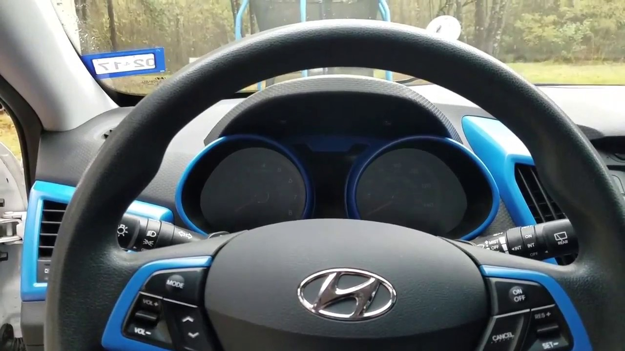 How To Veloster Steering Wheel And Instrument Cluster