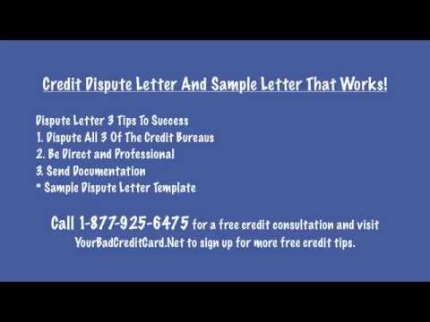 credit dispute letter with sample that works