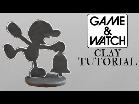 Making Mr. Game And Watch Using Polymer Clay - Super Smash Bros. Tutorial thumbnail