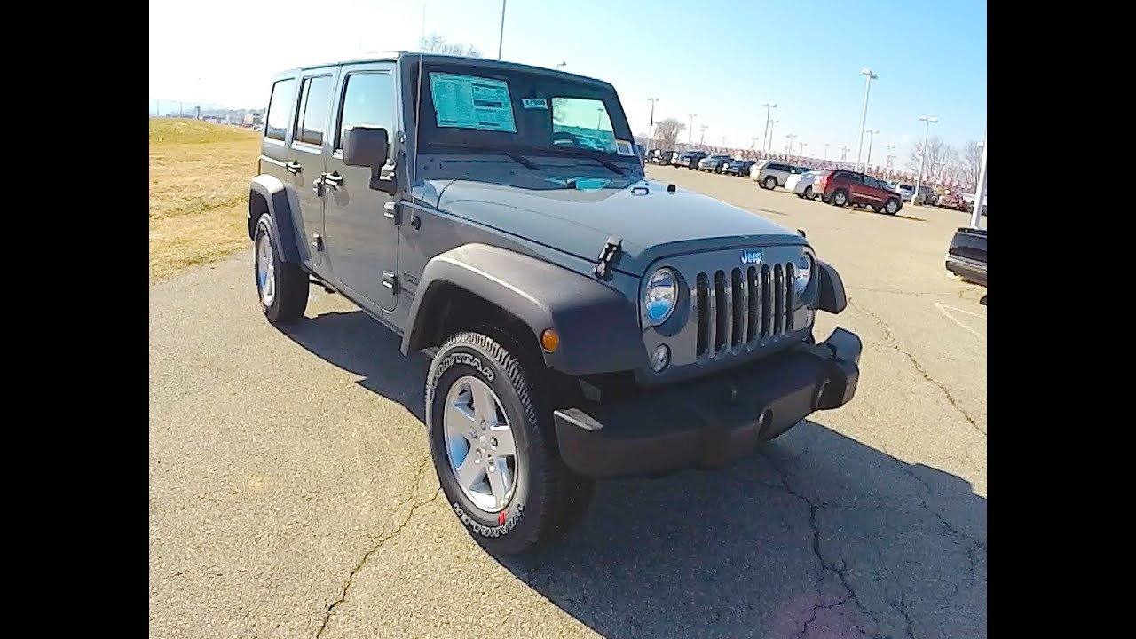New 2015 Jeep Wrangler Unlimited Sport Anvil Grey Jeep