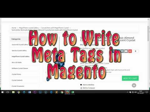 How to Write Meta Tags in Magento for Products & Categories - on-page SEO