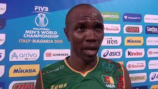 12-09-2018: #barivolley2018 - Le voci del Camerun post Camerun  - Tunisia 3-0