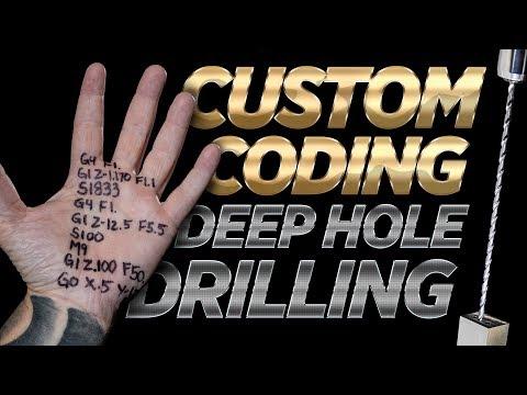 G & M Code   Secret Technique for Deep Hole Drilling   CNC Machining   Vlog #109