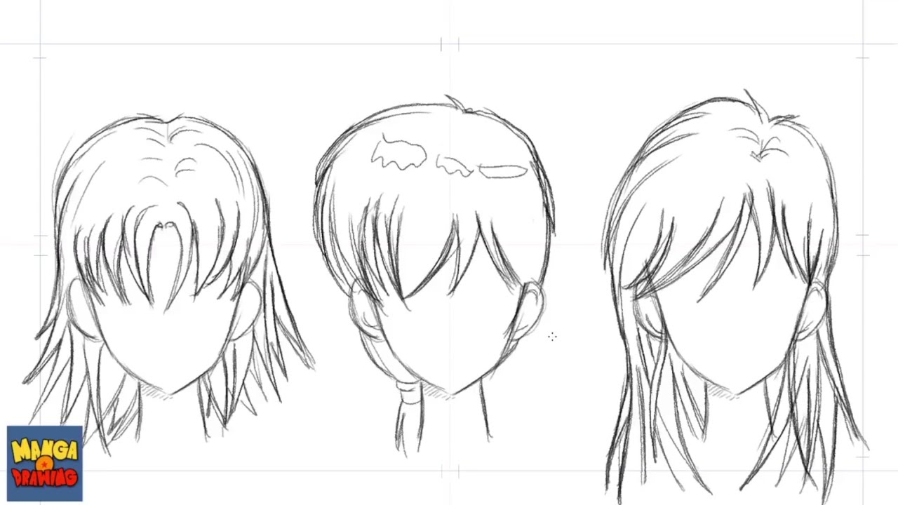 How To Draw Manga Hair Different Ways YouTube - Different hair style drawing