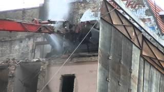 Ein Haus in Berlin-Moabit verschwindet