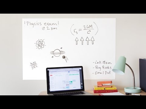 A go-anywhere dry erase board.