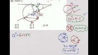 Relaciones métricas en una circunferencia
