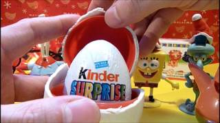 10 Surprise kinder presents CHRISTMAS spoungebob unboxing  peppa pig tree gifts compilation HD