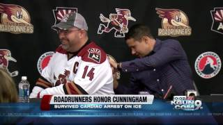 Roadrunners honor Craig Cunningham with pre-game ceremony