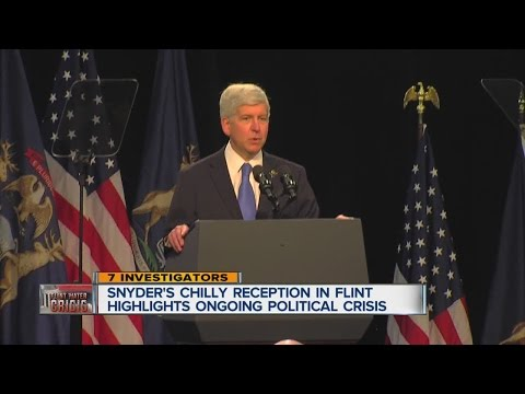 Snyder's chilly reception in Flint highlights ongoing political crisis